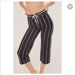 BDG High + Wide Cropped Jean – Striped Yarn